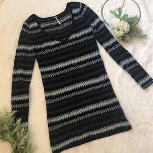 Free People Long Tunic Sweater EUC